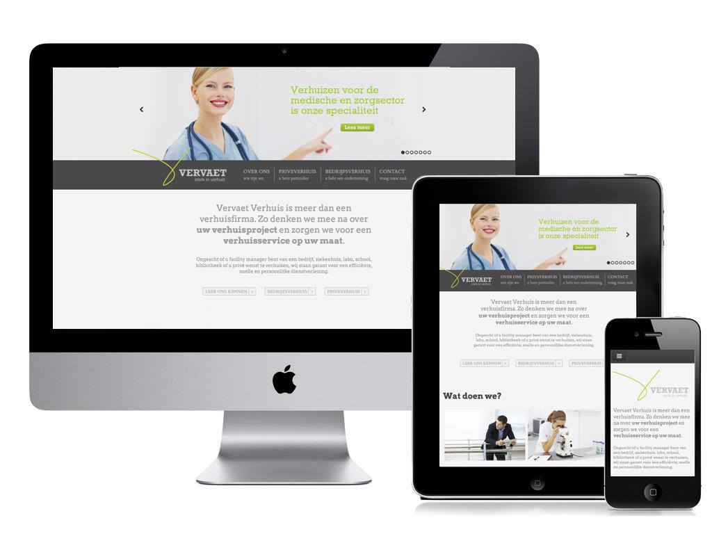 Vervaet Verhuis nieuwe responsive website