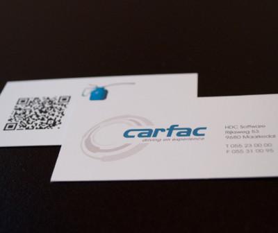Carfac logo huisstijl