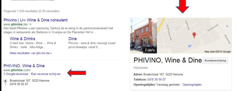 Google recensie
