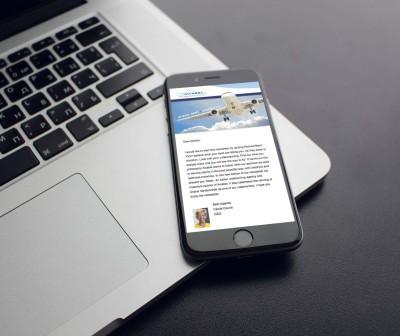 responsive nieuwsbrief van aviabel